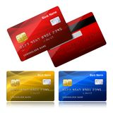 Realistic credit card with security chip Stock Photography