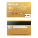 Realistic credit card for your design.  Royalty Free Stock Photo