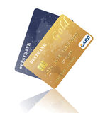 Realistic credit card for your design Royalty Free Stock Photo