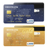 Realistic credit card for your design.  Stock Photography