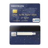 Realistic credit card for your design.  vector illustration