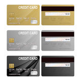 Realistic credit cards set Royalty Free Stock Photography