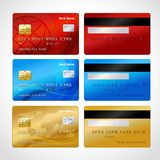 Realistic credit cards set Royalty Free Stock Images