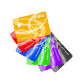 Realistic credit cards set Royalty Free Stock Photo