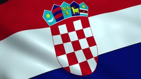 Realistic Croatia flag stock footage