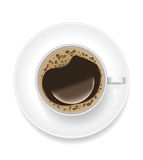 Realistic Cup of Black Coffee. Vector Royalty Free Stock Photo
