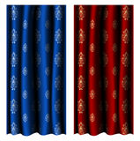 Realistic curtain set Royalty Free Stock Image