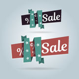 Realistic curved banner. Super Sale, special offer. Vector illustration website elements. Realistic curved banner. Super Sale, special offer. Website elements Royalty Free Stock Photography