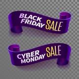 Black friday sale ribbon Stock Images