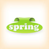 Realistic curved ribbon icon spring. Vector Stock Photos