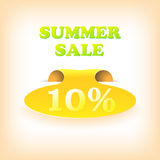 Realistic curved ribbon icon summer. Vector Royalty Free Stock Photography