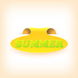 Realistic curved ribbon icon summer. Vector Stock Photography