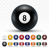 Realistic 3D Billiard Balls With Shadows Royalty Free Stock Photography