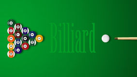 Realistic 3D Billiard Balls With Shadows Stock Photography