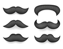 Realistic 3d Design Mustache Icon Set Template Mock up Isolated Vector Illustration Royalty Free Stock Image