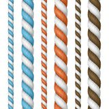 Realistic 3d Detailed Thickness Rope Line Set. Vector Stock Photos
