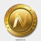 Realistic 3d golden Namecoin coin. Stock Photography