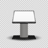Realistic 3d Interactive Information Kiosk Terminal Stand Screen Display Console Infokiosk  on transparent background. Vec. Tor illustration. Eps 10 Stock Photo