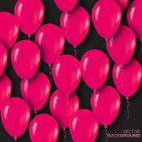 Realistic 3d Pink Balloons Flying for Party and Celebrations. Stock Images