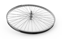 Realistic 3d render of bicycle wheel.  Stock Photography