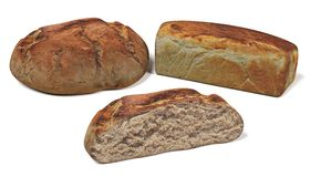 3D Render of Breads. Realistic 3D Render of Breads Stock Images