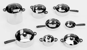 3d Render of Cooking Pots. Realistic 3d Render of Cooking Pots royalty free illustration