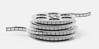 3D Render of Film Reel. Realistic 3D Render of Film Reel Stock Images