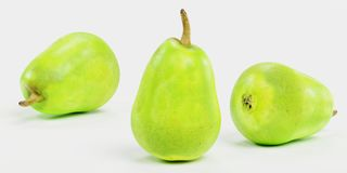3D Render of Green Pear. Realistic 3D Render of Green Pear Royalty Free Stock Images