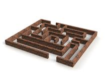 Realistic 3d render of maze Stock Photos