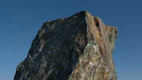 Rock /mountain in front of blue sky. 3D render. Royalty Free Stock Photos