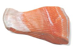 3D Render of Salmon Fillet. Realistic 3D Render of Salmon Fillet Royalty Free Stock Photos