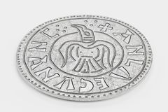 3d Render of Silver Penny royalty free illustration