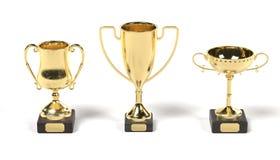 3d render of sport trophies Royalty Free Stock Image