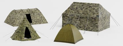 3d Render of Tents. Realistic 3d Render of Tents stock illustration
