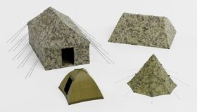 3d Render of Tents. Realistic 3d Render of Tents royalty free illustration