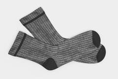 3D Render of Winter Socks. Realistic 3D Render of Winter Socks Royalty Free Stock Images