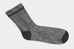 3D render of winter socks. Realistic 3D render of winter socks Royalty Free Stock Photography