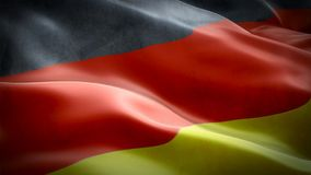 Realistic 3d seamless looping Germany flag waving in the wind. stock video footage