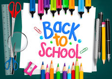 Realistic 3D Set of School Items with Back to School Stock Images