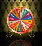 Realistic 3d spinning fortune wheel, lucky roulette. Vector illustration vector illustration