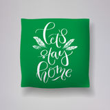 Realistic 3d throw pillow models with lettering print. Apartment interior design elements. Vector cushions collection. Stock Photography