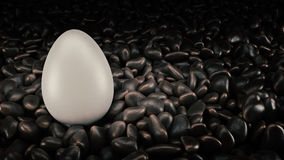 Realistic 3D White Egg. 3d rendering Stock Photography