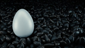 Realistic 3D White Egg. 3d rendering Royalty Free Stock Photo