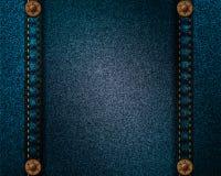 Realistic dark denim texture Stock Images
