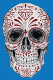 Realistic Day of the Dead Sugar Skull stock illustration