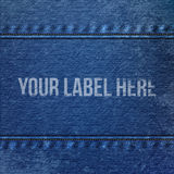 Realistic Denim blue Cloth Texture Stock Image