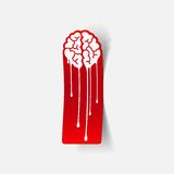 Realistic design element: brain drop Royalty Free Stock Images
