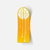 Realistic design element: brain drop Stock Photo
