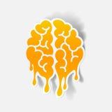 Realistic design element: brain drop Stock Image