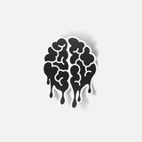 Realistic design element: brain drop Royalty Free Stock Photos